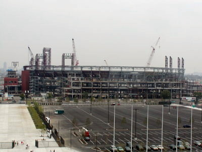 Citizens Bank Park under construction (philadelphia.about.com)