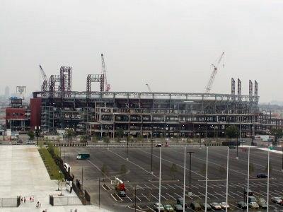 Citizens Bank Park under construction (philadelphia.about.com)