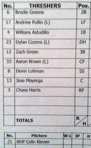 Line up 4-18-2015