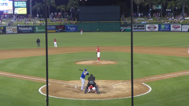 Night Baseball in Clearwater 3-25-2016