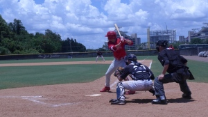 Moniak at the plate
