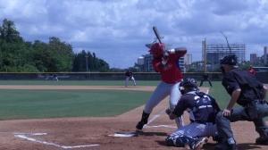 Randolph first pitch
